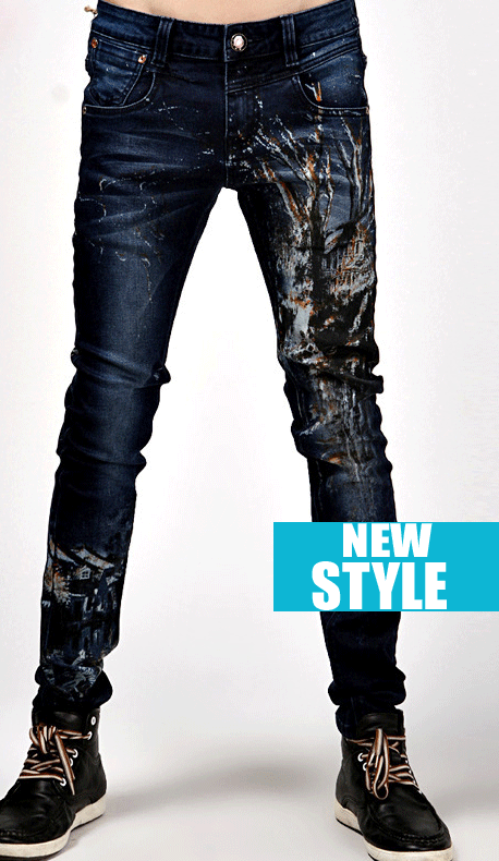 Wholesale Mens Jeans - Paint Splatter Style