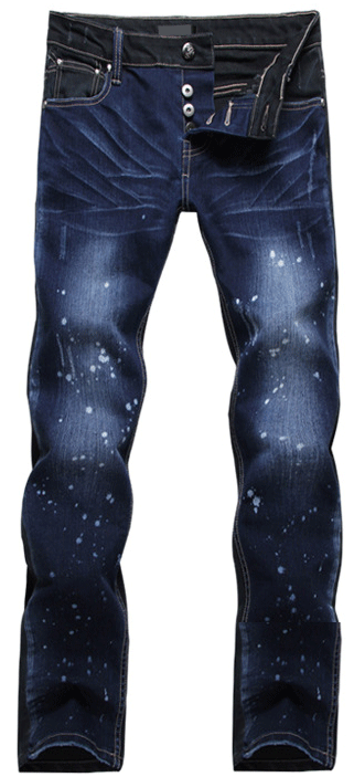 Wholesale Stonewashed Paint Splatter Jeans